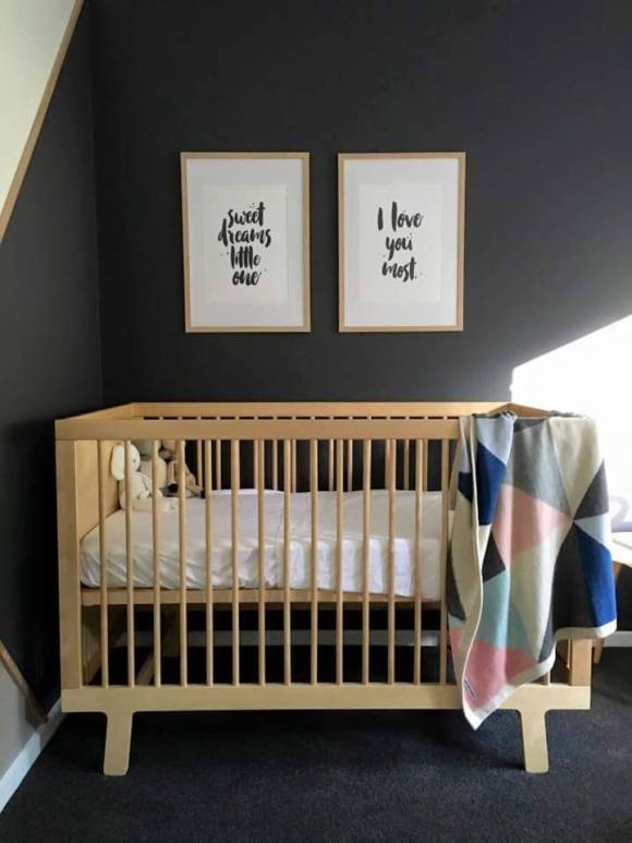 Dark Scandinavian Budget Nursery | Learn How To Pull Off This Style | NurseryDesign.com.au
