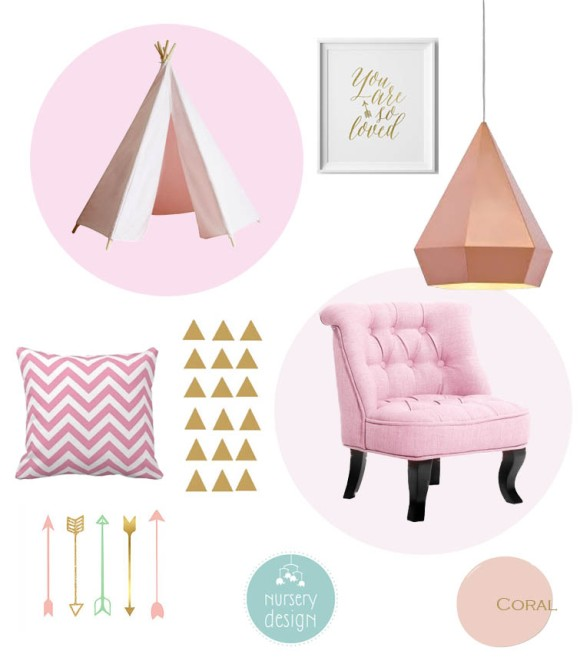 Rose Gold and Pink Nursery